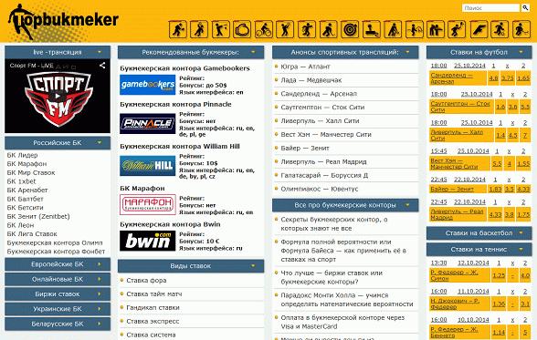 Все букмекерские конторы теперь все на одном сайте!