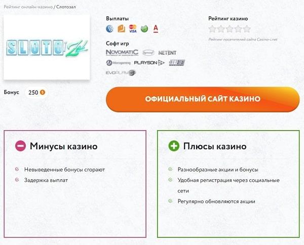 Рейтинг интернет-казино с выводом на casino-i.net