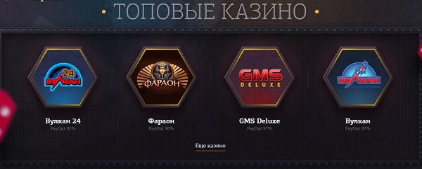 Игровые автоматы онлайн с мгновенным выводом на play.slot-top.net